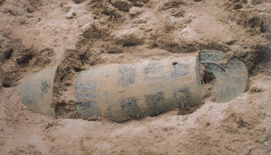 銅鐸が埋められていた様子