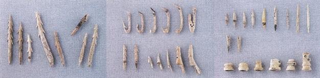 出土した骨角製の漁猟・狩猟具