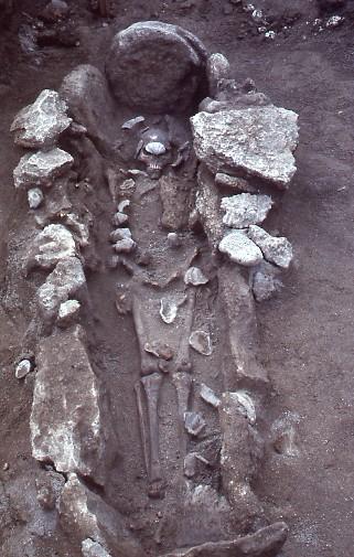 第5号石棺墓検出状況