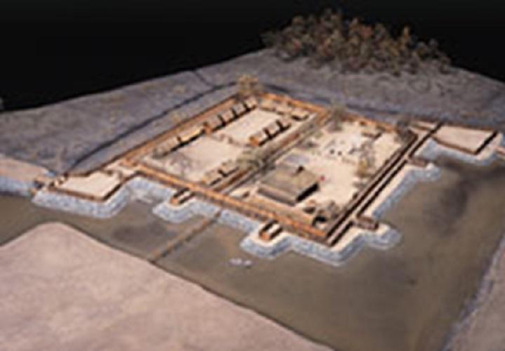 遺跡の復元模型(かみつけの里博物館)