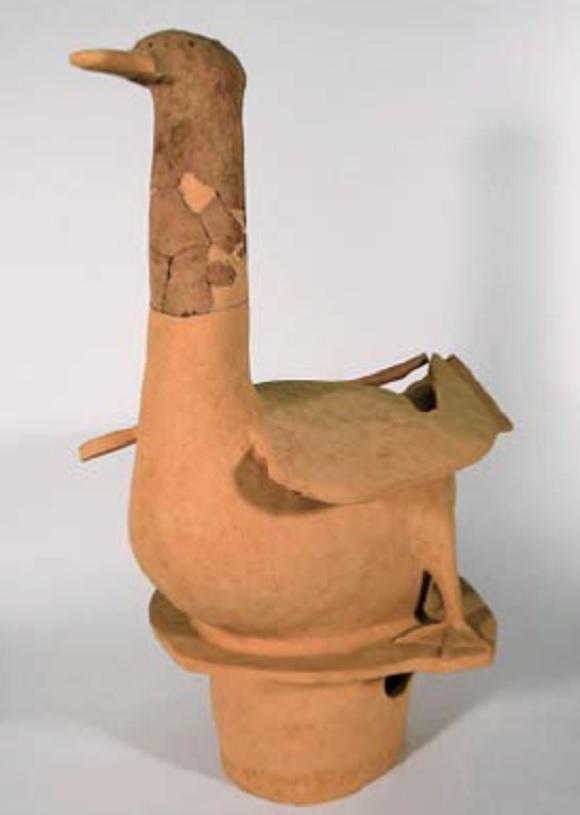 出土した水鳥埴輪