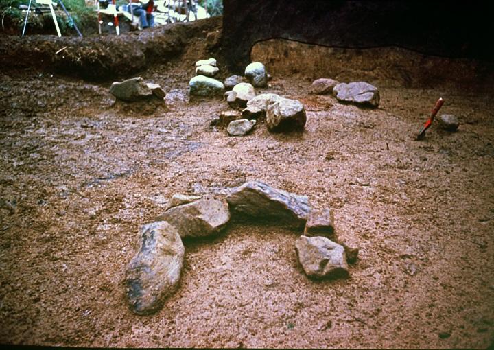 発見された炉跡