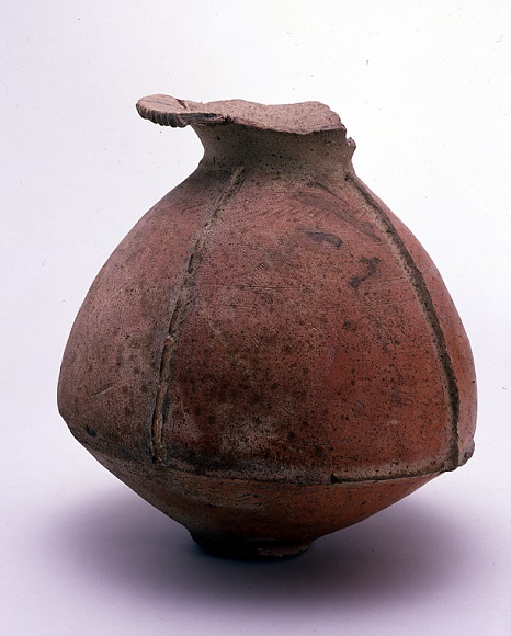 鰭付弥生土器壷
