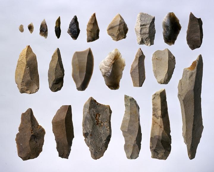 出土した主要な石器